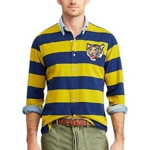 Polo Ralph Lauren Men's Yale Tiger Patch Long-Slee